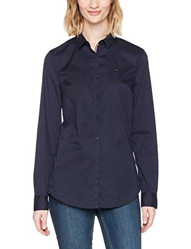 Tommy Hilfiger Basic Stretch Blusa, Azul (Navy Blazer 416), Small para Mujer