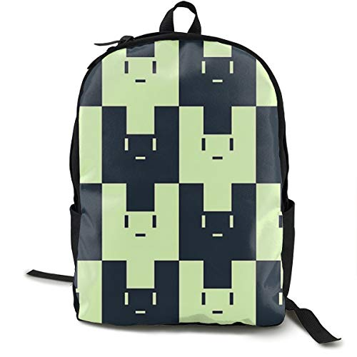 Bankzeri Usagimodoki Backpack Unisex School Daily Backpack Lightweight Casual Travel Outdoor Camping Daypack