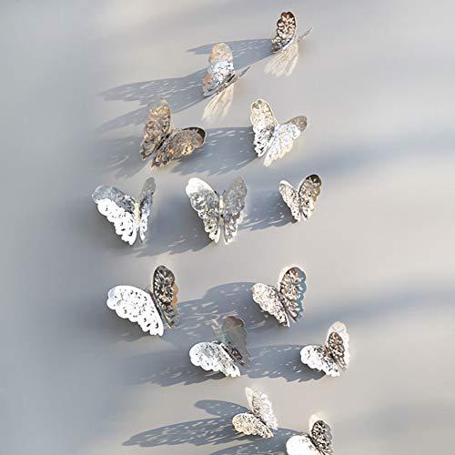 GDFEGFREDG 12 stuks muurstickers 3D behang leeg vlinder koelkast voor decoratie thuis, wandsticker, decoratie B