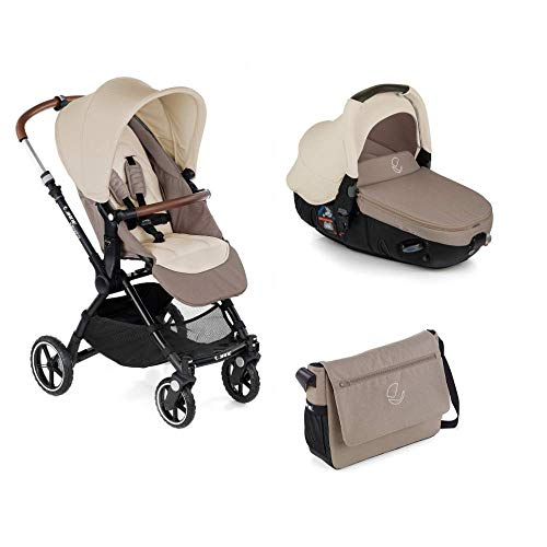 Jané Kendo - Cochecito de bebe 2 piezas, silla de paseo y portabebé convertible matrix light 2, freno de pie, chasis de aluminio de 6,8 kg, plegado compacto, incluye bolso, unisex, color bronze