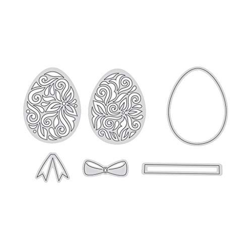 Koobysix Microcarving Osterei Metall Stanzformen Schablone Scrapbooking DIY Album Stempel