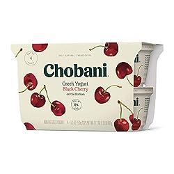Chobani Non-Fat Greek Yogurt, Black Cherry on the Bottom 5.3oz, 4-pack