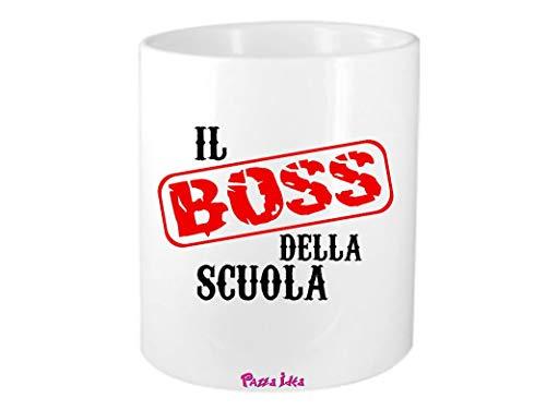 portapenne 8x10 Scritta Il Boss della Scuola Idea Regalo Scuola alunno Professor