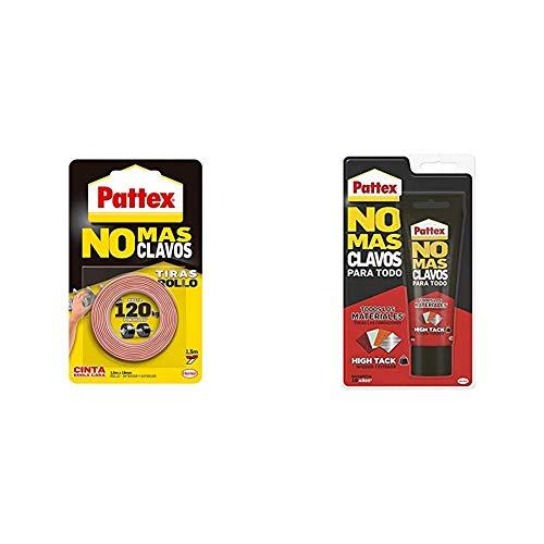 Pattex No Más Clavos Cinta, cinta adhesiva para aplicaciones permanentes + No...