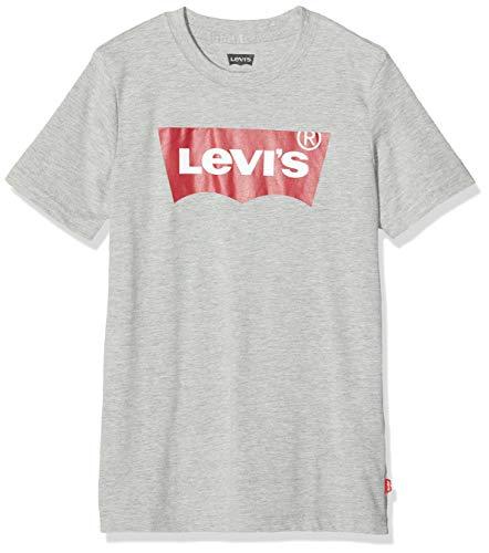 Levi\'s Kids Jungen Batwing Tee 9E8157 T-Shirt, Grau (Grey Heather 078), 14 Jahre