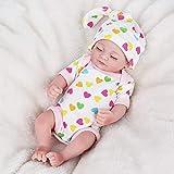 JTYX DOLLS Mini Am Leben Wiedergeborene Puppe Schlafendes Mädchen Vollvinyl Soft Touch schöne...