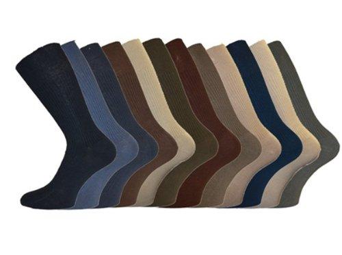 i-Smalls Herren Aler 12er Pack Non Elastische Baumwolle Socken (Mischung) 39-45