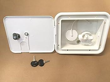 Valterra White Gravity/City Water Hatch Fill Dish Lock Keys RV Trailer