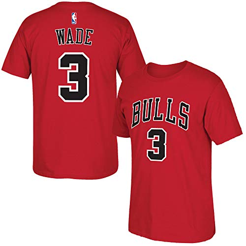 Outerstuff Dwayne Wade Chicago Bulls #3 Red Youth Performance Name & Number T-Shirt (Large 14/16)