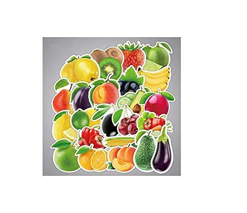 votgl stickersExquisite Cartoon Verse Fruit En Groenten Stickers Voor Keuken Bakkerij Cup Schaal Koelkast Kinderen Onderwijs Speelgoed 25 stks/partij