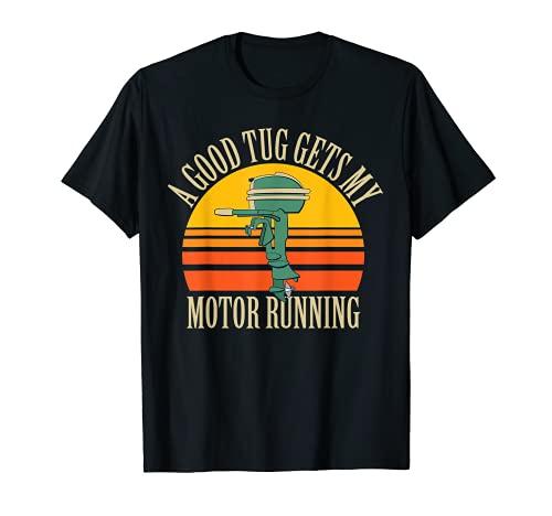 Funny Motorboating Vintage Outboard Motor Boat Design T-Shirt