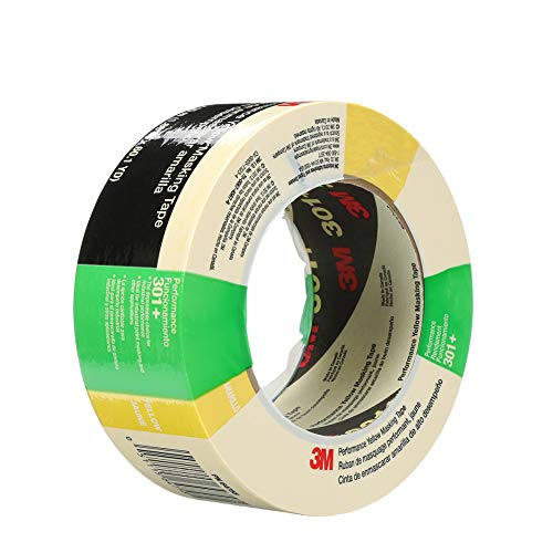 3M 301+ High Performance Masking Tape, Yellow, 48 mm x 55 m – High Performance Holding and Masking Tape for Automotive, Specialty Vehicle and Industrial Markets, 1 Pack