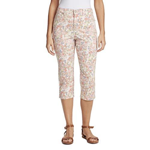 Gloria Vanderbilt Women's Plus Size Amanda Capri Jeans, Bejeweled Floral Stonewood, 16W