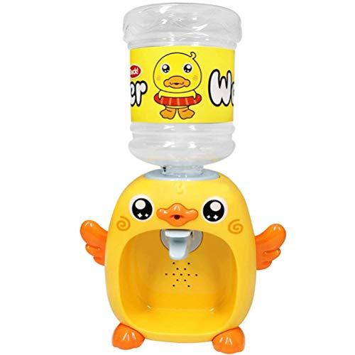BSTCAR Mini Wasserspender mit Musik Und Licht Kleine Gelbe Ente Wasserspender,Elektronisches Spielzeug für Kinder