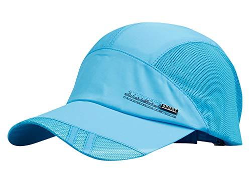 AIEOE Atmungsaktive Kappe Outdoor Kappe Leicht und Schnelltrocknend Basecap Baseball Cap - Hellblau