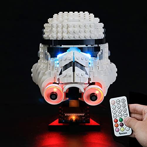 BRIKSMAX Kit de iluminación LED para Lego Star Wars Stormtrooper Helmet - Compatible con Lego 75276 Building Blocks Model- No incluir el Conjunto de Lego