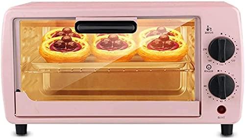 Temperatura ajustable automática de 9L mini automático 0-230 y Temporizador de 60 minutos Posición de hornear de tres capas Horneado para el hogar Horno eléctrico (color: negro)