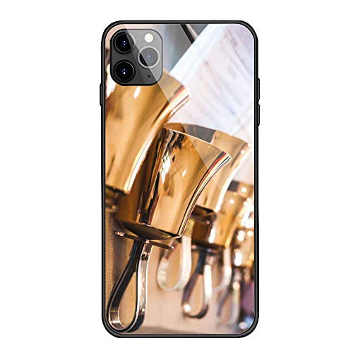 FEDDIY iPhone 11 Case Anti-Drop TPU and Hard PC Scratch-Proof Tempered Glass Protector Cover Fit iPhone 11 Cases for Girls Boys Handbells