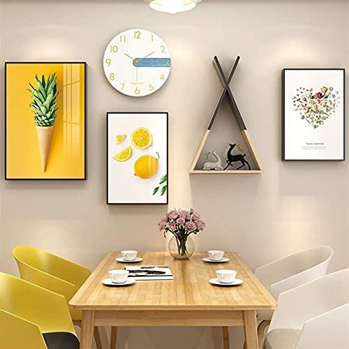Photo Wall Photo Photo Frame 3 Pezzi Set, Photo Clock fotogramma, Punch-Fotografica Gratis for la Decorazione della Decorazione della Parete o della Decorazione Domestica (Color : A)