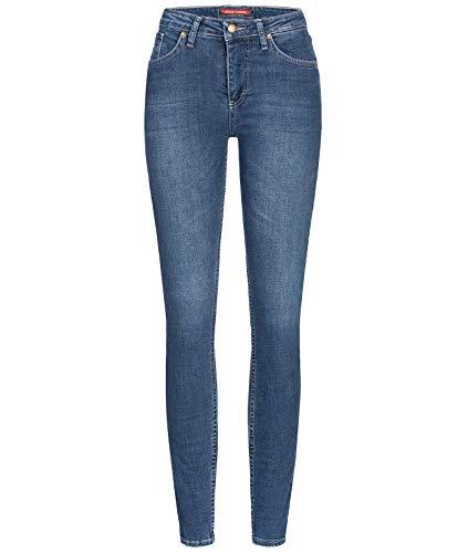 Rock Creek Damen Jeans Hose Skinny Jeanshose Designer Jeans Stonewashed Stretch Jeans Damenhose Damenjeans D-398 Blue W31 L32