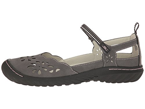 JBU by Jambu Women's Deep Sea Encore Mary Jane Flat, 9, Charcoal