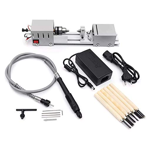 Purchase Nuokix Wood Lathes, Mini Lathe Beads Machine Woodworking DIY Lathe Polishing Cutting Drill ...