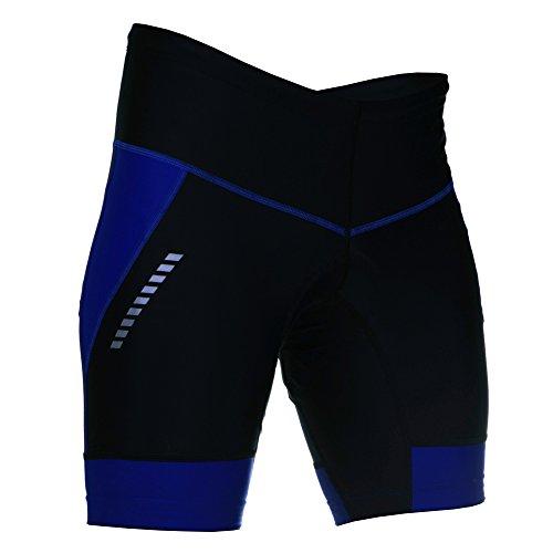 Stanteks SR0070 Fietsbroek, korte broek, shorts zonder drager, fietsbroek met Bike Pro-Air 3D Coolmax zitkussen, uniseks, ademend, reflectoren, thermoleggings