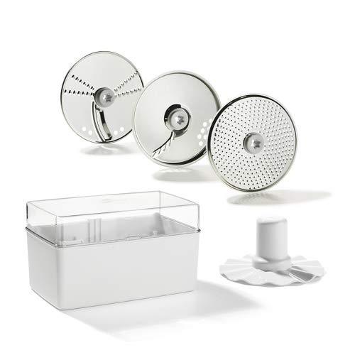 Genius Feelvita Food Processor Scheiben (5 Teile) Küchenmaschine - perfekt zur Erweiterung Ihres Feelvita Food Processor - für dünne Scheiben und zum Emulgieren von Sahne