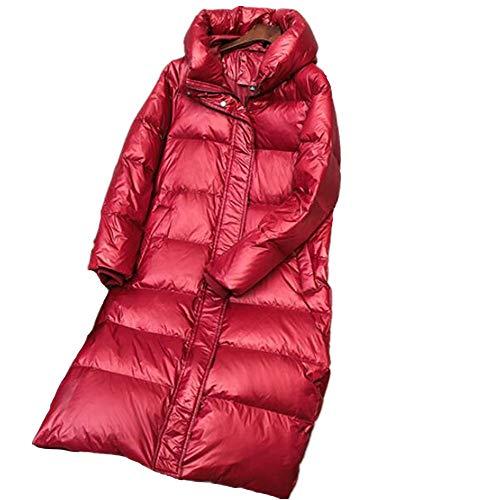 Abrigo de plumón de Invierno cálido para Mujer Parkas con Capucha Mujer Pato Blanco plumón Grueso Femenino