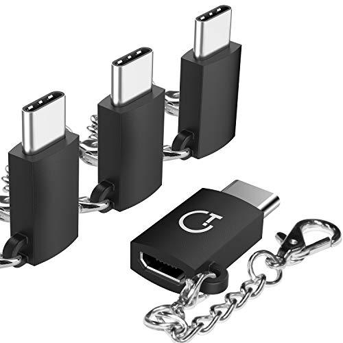 【4点セット】Gritin Micro usbからType-C 変換アダプタ 56Kレジスタ使用 Quick Charge3.0対応 Nintendo Sw...