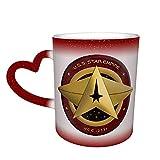 Star Trek Tazza in ceramica con colori sensibili al calore che cambiano colore tazza cambiando nel cielo magica divertente arte caffè tazze in ceramica