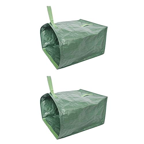 Tuin Gazon Leaf Tuinafval Bag Large Clean Up Container Tote Gardening Trash Herbruikbare Garbage Opbergzakken (Color : Green 2pcs)