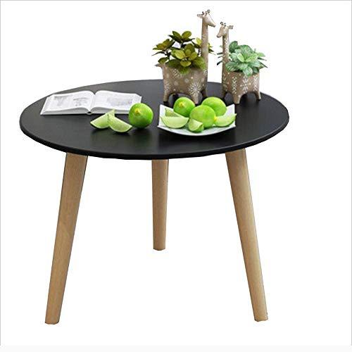 Axdwfd Table basse, Table d'appoint de canapé en bois massif, Table de chevet moderne, Table de collation (noir) 2 Taille (taille : 50 * 48cm)