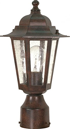 Nuvo 60/995 One Light Post Mount, Bronze/Dark