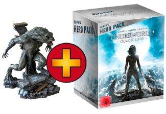 UNDERWORLD 1-4 - Ultimate Hero Pack inkl 23cm Figur / inkl. limitierte geprägte Steelbook Edition - Blu-ray