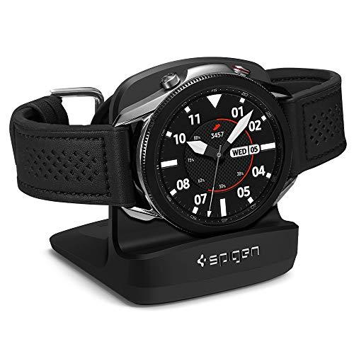 Spigen S352 Entwickelt für Galaxy Watch 4 Ladestation Ständer/Galaxy Watch 3 Ladestation Ständer/Galaxy Watch Active Ständer - Schwarz