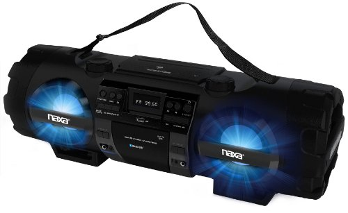 NAXA Electronics NPB-262 MP3/CD Bass Reflex Boombox and PA System with Bluetooth