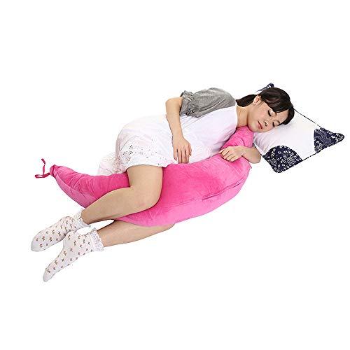 NACEO Zwangerschap Kussen C gevormd, Maan voor Slapen en Rugpijn Verlichting Zwangerschap Kussen, Borstvoeding Fetus met Wasbaar Katoen Cover Groot, Roze, Roze