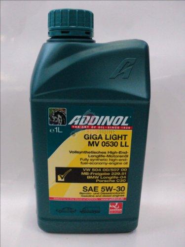 ADDINOL GIGA LIGHT MV 5W-30 LL C3 Motorenöl, 1 Liter