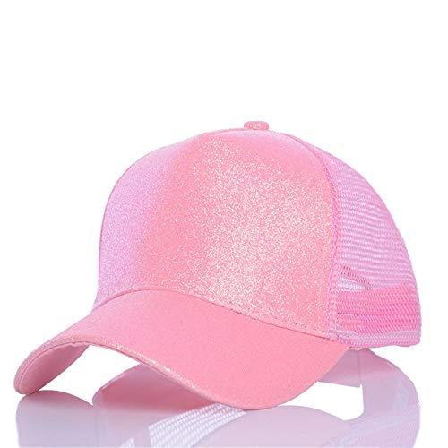 Mdsfe Casual paardenstaartbaseballpet verstelbare korting pailletten fonkelende hiphophoed vrouwen zomer glitter hoed k3579 12-a3579