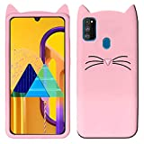 Monkish 3D Cute Cat Mustache Kitty Soft Silicone Mobile Phone Back Cases Cover