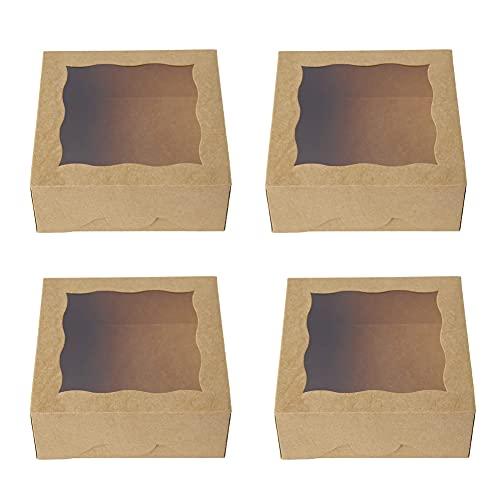 Nesloonp Cajas de Cupcakes, 30 Piezas Cajas para Pasteles con Ventana de PVC Transparente, Cajas de Regalo para Magdalenas, Portátil Caja para Cupcakes para Bodas, Fiestas, Ceremonias, cumpleaños