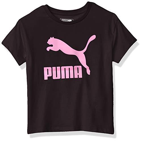 PUMA Girls' T-Shirt, Black, 5