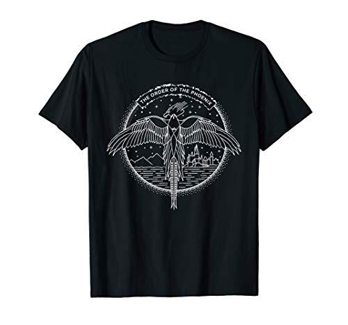 Harry Potter The Order of the Phoenix Circle Line Art T-Shirt