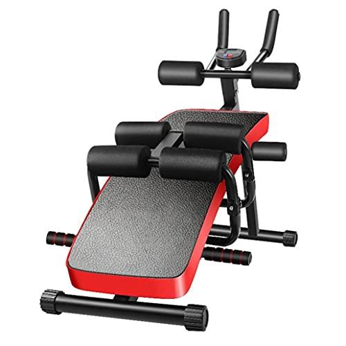 ZYYM 6 en 1 Banco de fitness y máquina de remo para uso en el gimnasio en casa, ejercicio abdominal, cintura abdominal, entrenador abdominal con pantalla LED y 12 modos deportivos