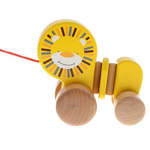 B Blesiya Löwe Nachziehtiere Nachziehspielzeug Holzspielzeug Motorikspielzeug für Kinder frühe Ausbildung