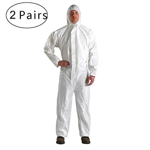 FJLR Wegwerp Beschermende Coveralls Pak met Hooded Veiligheid Beschermende Coverall Gown Pak Stof-Proof Werkkleding voor Schoonmaak Service Schilderen