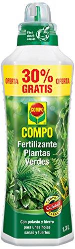 Compo Verdes para Plantas de Interior, balcón y terraza, Fertilizante líquido con Extra de potasio y Hierro, 1.3 L, 1444412011