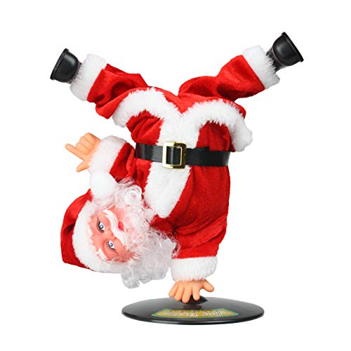 VARWANEO Electric Santa Claus, Inverted Rotation Singing and Dancing Chrismas Toy Christmas Dolls Christmas Electric Dancing Music Santa Claus Doll Xmas Gift