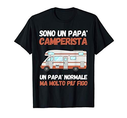 Uomo Sono un papa` camperista regalo di compleanno e natale Maglietta